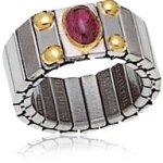 Nomination Damen-Ring Mittel Mit 1 Halb in Turmalin Rosa Ring größe variabel 040121/006 B002TN78ME