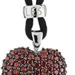 Celesta Damen-Anhänger mit Textilband 42+3cm 925 Sterling Silber Zirkonia rot 360250173 B00B4NI0ZE