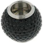 Kettenworld Unisex-Bead Magnetzwischenteil Kugel mit Strass 925 Sterling Silber schwarz FA 72178/92 B009VYOHSW