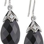 Celesta – Damenohrhaken aus 925er Sterling Silber weißen und schwarzen Zirkonias 273230051L-1 B003CRHXEE