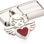 Nomination Composable Damen-Bead Classic Charms 925Er Silber Engel Mit Herz 031700/27 B004Z8FI82