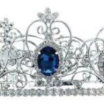 PreciousYou Silber Festzug Blau Saphir Männer or Dame Theater Mittelalterlich König Königin Krone (19cm x 9cm) mit PreciousBags Schutz-Staubbeutel B00I0UHTRE