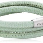 Viventy Unisex Armband Leder 3x gewickelt. in grün 59cm 764021 B00CFLKJWG