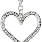 Pilgrim Damen-Anhänger Herz Mega Charms versilbert kristall 41121-6013 B007PAAKBM