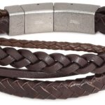 FOSSIL Herren-Armband Leder braun 22.5  cm JF85296040 B003P4H86M