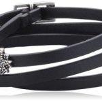 Pilgrim Jewelry Damen-Armband Messing Pilgrim Damen-Armband aus der Serie Autumn bracelets versilbert,schwarz 59.0 cm 291336112 B00ESBCQ6I