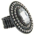 Sweet Deluxe Damen-Ring Messing sweet deluxe Damen Stretchring Barock 3 silber/bl.diamond 02762 Gr. 2762 B00EDL3NEM