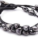 PILGRIM 610-102 Armband, Leder, schwarz B003Y7DANK