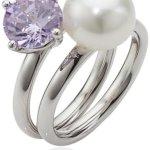 Adriana Damen-Ring Süßwasser Zuchtperlen purple rain 925 Sterling-Silber Rainbow RAR-V-Gr.60 B0081RR980