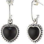 Pandora Damen-Ohrringe 925 Sterling Silber Onyx schwarz 290532ON B0095SHXAS