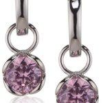 Rafaela Donata Damen-Klappcreolen Classic Collection 925 Sterling Silber Zirkonia rosé  60800221 B004LVRN5E