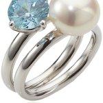 Adriana Damen-Ring Süßwasser Zuchtperlen seaside 925 Sterling-Silber Rainbow RAR-D-Gr.58 B0081RR836