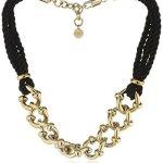 Dyrberg/Kern Damen Halskette Vergoldetes Metall Stoff Swarovski-Kristall 336246 B00LFIKZ24