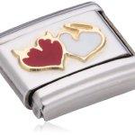 Nomination Composable Damen-Bead Classic Love Edelstahl Emaille 18k-Gold (Herzen mit Engel Teufel) 030253/27 B007BD12DI