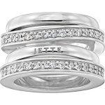 JETTE Silver Damen-Ring FLOW 925er Silber 58 Zirkonia (silber) B00K2TO4ZQ