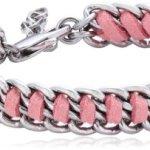 Dyrberg/Kern Damen Armband Versilbertes Metall pink 335165 B00HEYACKI