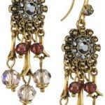 Pilgrim Jewelry Damen-Ohrstecker Messing Pilgrim Damen-Ohrstecker aus der Serie Russian loving vergoldet,lila 5.0 cm 231332323 B00ESBBI7G