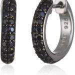 Esprit Damen-Creolen elegance black 925 Sterlingsilber 40 Zirkonia schwarz ESCO90704B000 B005EYVIYO