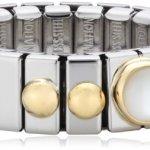 Nomination Damen-Ring Klein Mit 1 in Perlmutt Weiß Ring größe variabel 040101/012 B002TN5B3M