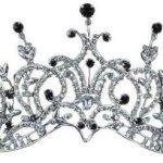 PreciousYou Silber Groß Viktorianisch Festzug Schwarz Kristall Strass Gothic Braut Hochzeit Abschlussball Tiara Diadem (14cm x 9cm) mit PreciousBags Schutz-Staubbeutel B00I0UJY2M