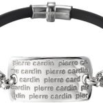 Pierre Cardin Unisex Armband 925 Sterling Silber rhodiniert Leder Cardin 21 cm PCBR90123A210 B00GXV0O0G