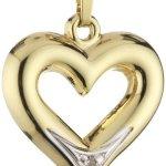Amor Jewelry Damen-Anhänger 8 Karat 333 Gelbgold 109741 B00EQ0MY22