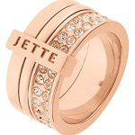 JETTE Magic Passion Damen-Ring Pure Glam Metall 80 Kristall (rosé) B00Q0OLE64