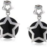 Viventy Damen-Ohrstecker 925 Sterling Silber mit 3 Zirkonia in weiss und 1 Onyx in schwarz 763584 B00F85Q4KM