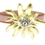 Sweet Deluxe Damen-Ring Messing Wiesn Edelweiß gold/rose Gr. 56 (17.8) 2451 B00CYEHILE