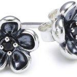 Pandora Damen-Ohrstecker 925 Sterling Silber Zirkonia schwarz 290522CZK B006983A2W