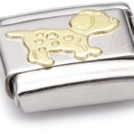 Nomination Composable Classic TIERE – LAND Edelstahl und 18K-Gold (Hund) 030112 B003HEVSSY