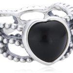 Pandora Damen-Ring 925 Silber Onyx schwarz 190874ON B00BPMHCYY