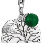 Esprit Damen-Charm 925 Sterling Silber rhodiniert Kristall Zirkonia Green Tree weiß ESCH91174A000 B00GD2RRXM