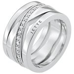 JETTE Silver Damen-Ring Wrapping 925er Silber rhodiniert Zirkonia (silber) B00MVAF3ZY