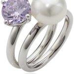 Adriana Damen-Ring Süßwasser Zuchtperlen purple rain 925 Sterling-Silber Rainbow RAR-V-Gr.58 B0081RR7XC