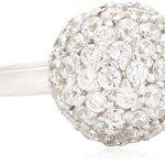 Celesta – Damenring Kugel aus 925er Sterling Silber und 68 weißen Zirkonias B003CRR1WI