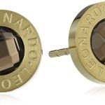 Leonardo Jewels Damen-Ohrstecker Edelstahl Matrix gold/braun 15090 B00DVCW50C