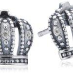Pandora Damen-Ohrringe 925 Sterling Silber Zirkonia weiß 290539CZ B00BFPPR7A