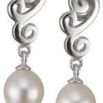 Valero Pearls Silver Collection Damen-Ohrstecker Hochwertige Süßwasser-Zuchtperlen in ca.  8 mm Tropfenform weiß 925 Sterling Silber       60200023 B002OL2JJ8