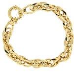 Kettenworld Damen-Armband 925 Sterling Silber vergoldet 295583 B00BN3G37C