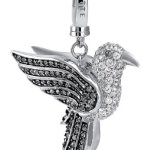 JETTE Charms Damen-Charm MAXI CHARM 925er Silber 67 Zirkonia 141 Kristall One Size, silber B00H5CDBUW