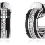 Joop Damen-Ohrhänger Epoxy schwarz Zirkonia weiss 925 Sterling Silber JPER90254A000 B00BATMQ16