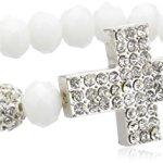 Sweet Deluxe Damen-Armband Kassandra silber weiß Messing 2458 B00CL5024G