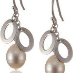 Valero Pearls Silver Collection Damen-Ohrstecker Hochwertige Süßwasser-Zuchtperlen in ca.  8 mm Tropfenform weiß 925 Sterling Silber       60201040 B002OL2K4W