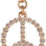 Pilgrim Damen-Anhänger Peace aus der Serie Mega Charms RoséGold beschichtet Kristall 41122-4003 B007UXE92A
