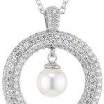 Joop Damen-Halskette 925 Sterling Silber Michelle synth. Perle weiÃY Zirkonia-Pavée ca. 47 cm (42 + 5 cm) JPNL90606A420 B00AJZX0GW