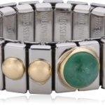 Nomination Damen-Ring Klein Sowie 1 Halb in Smaragd Ring größe variabel 040102/009 B002TN1GB8