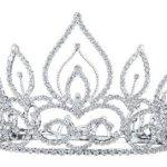 PreciousYou Silber Braut Retro Vintage Jahrgang Groß Kristall Strass Hochzeit Abschlussball Tiara Diadem (17cm x 12cm) mit PreciousBags Schutz-Staubbeutel B00I0UHS8E