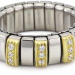 Nomination Damen-Ring N.Y. Klein Mit Weiß Ring größe variabel 040453/001 B004IUNDE8