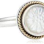 Pandora Damen-Ring 925 Silber Perlmutt weiß 190859MOP B00BTFAA0U